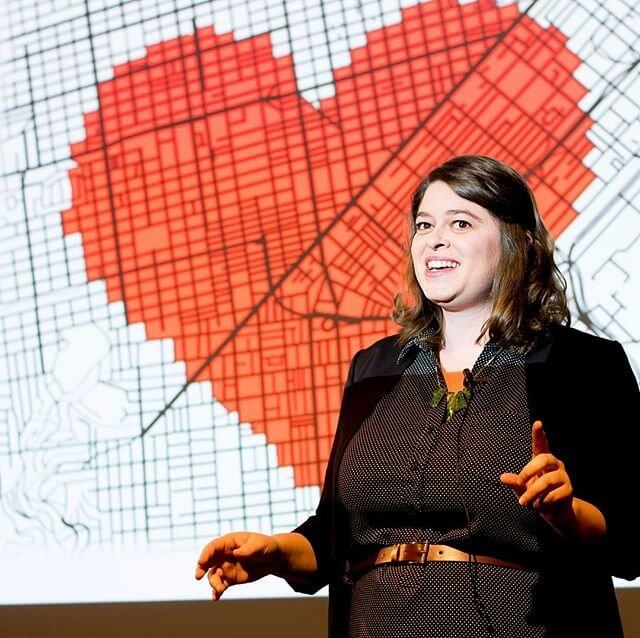 Ariel Kauss of the Biomedical Sciences Program at UCSF gives her talk,