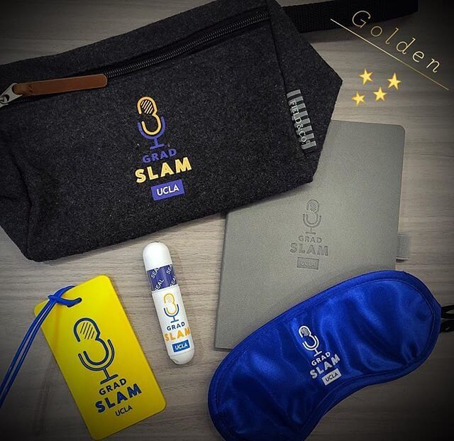 From @uclagradschool on Instagram: Admiring our 2019 #UCLAGradSlam swag!