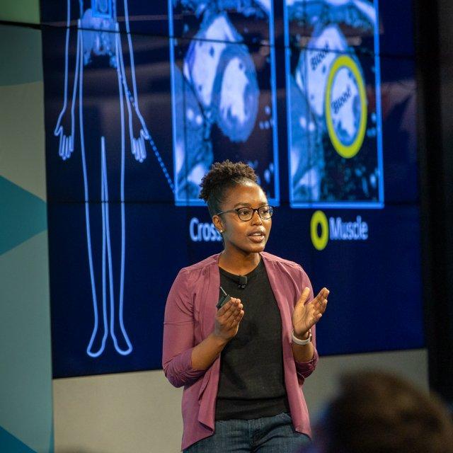 Nyasha Maforo giving her presentation