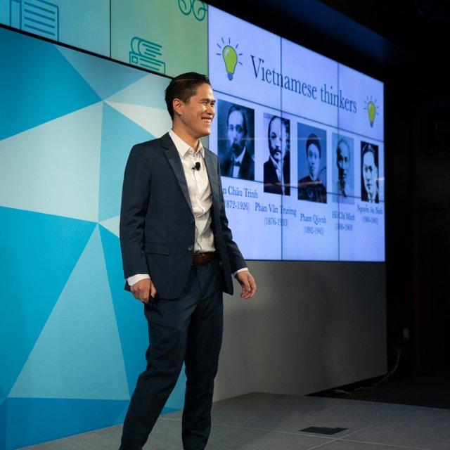 Kevin Pham during his presentation